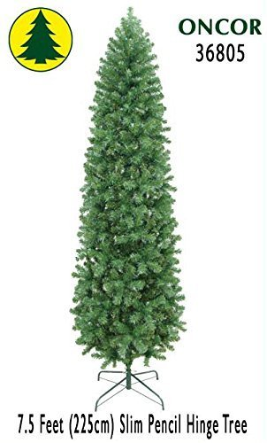 7.5ft Eco-Friendly Oncor Slim Pencil Christmas Tree by Oncor