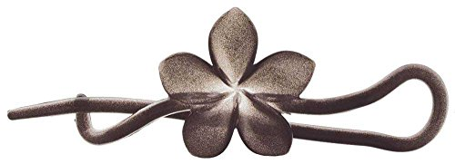 Camila Paris French Hair Barrettes Clips for Girls Grey, Flower, Strong Hold Grip Hair Clips for Women, No Slip and Durable Styling Girls Hair Accessories, Made in France