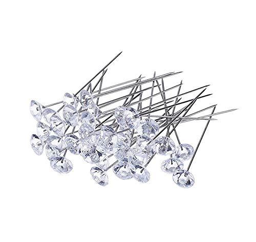 ️ Yu2d ❤️❤️ ️100Pcs Crystal Diamante Corsage Pins -