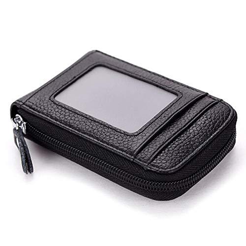 Men Wallet Card Holder Leather Wallet RFID Blocking Credit Card Holder Business Cards Case Driver License Slim & Large Capacity PU Leather Bank Card Case Wallet - ()