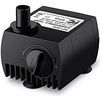 VicTsing 80 GPH (300L/H, 4W) Submersible Water Pump for Pond, Aquarium, Fish Tank Fountain Water Pump Hydroponics with 5.9ft (1.8M) Power Cord (Black)