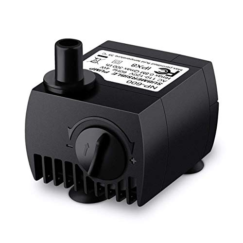 VicTsing 80 GPH (300L/H, 4W) Submersible Water Pump for Pond, Aquarium, Fish Tank Fountain Water Pump Hydroponics with 5.9' (1.8M) Power Cord from VicTsing