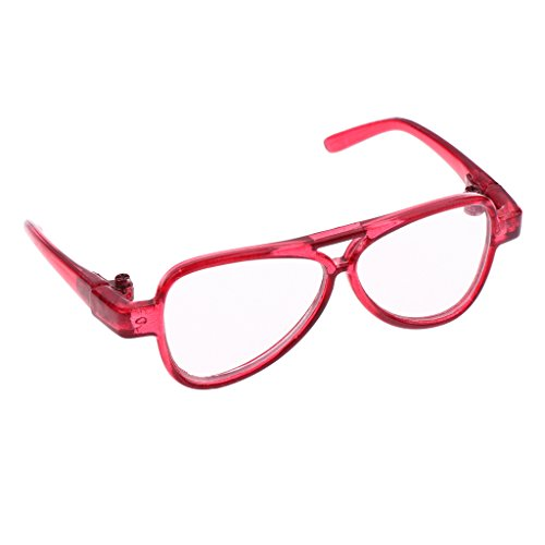 MonkeyJack Cool BJD Oval Frame Glasses Eyeglass Spectacles for AS DZ LUTS SD17 Uncle Doll Dress Up Accs Clear - Spectacles Cool