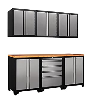 NewAge Products 31509 Pro Stainless Steel Series 18-Gauge Garage Cabinet Set 7-  sc 1 st  Amazon.com & NewAge Products 31509 Pro Stainless Steel Series 18-Gauge Garage ...