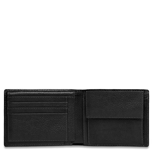Piquadro Men's Leather Wallet with Flip Up ID, Black, One Size by Piquadro