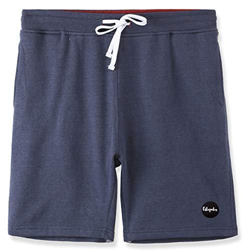 Estepoba Mens Casual Athletic Fit Comfort Soft Fleece Workout Gym Pockets Short Cadet Blue/Rusty XL