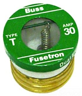 Bussmann T-4 4 Amp Type T Time-Delay Dual-Element Edison Base Plug Fuse, 125V UL Listed, 4-Pack by Bussmann