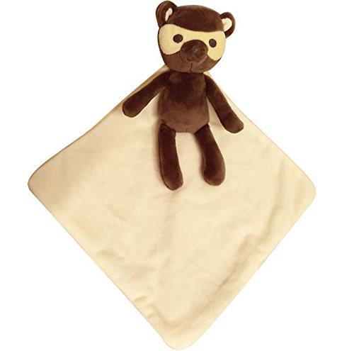 Verschiedene Geschenke für Ihre Babys Baby Plüsch Bär Spielzeug Handpuppe Tröster Spielzeug Soft Hand Towel_Brown + Beige