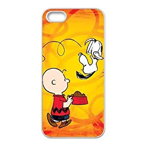 Charlie Brown And Snoopy iPhone5s Cell Phone Case White PQN6053055319874