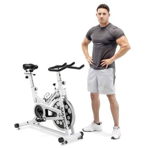 Marcy XJ-5801 Club Revolution Indoor Home Gym Exercise Bike Trainer, White/Black by Marcy (Image #4)