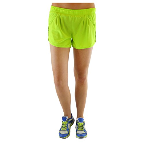 Alex+Abby Plus-Size Active Short 2X-Large Lime Blaze
