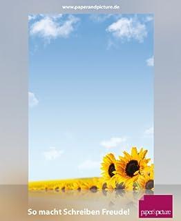25 Blatt Motivpapier Briefpapier lachsfarbene Pfingstrosen-5100 DIN A4