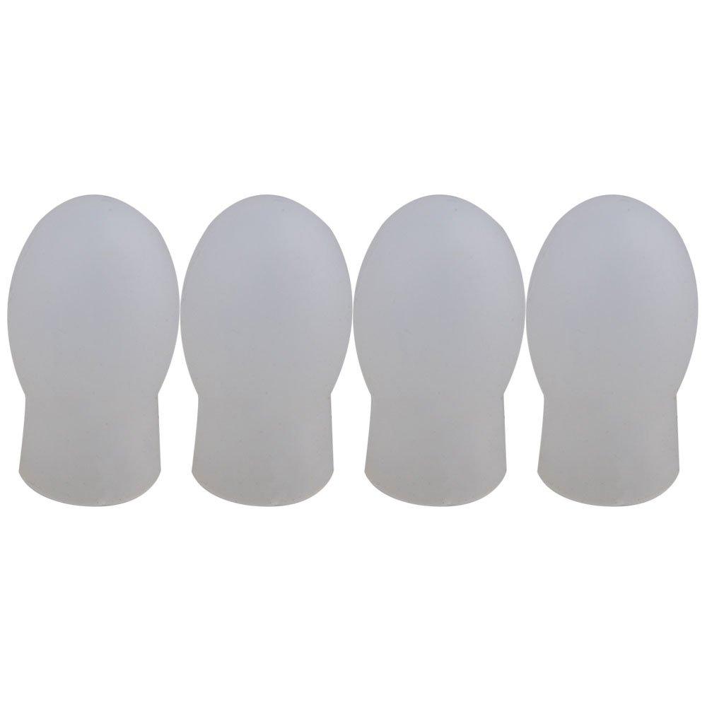 Yibuy 0.8x0.6inch Black Rubber Drumstick Practice Silent Tips Pack of 4 etfshop M7171225079