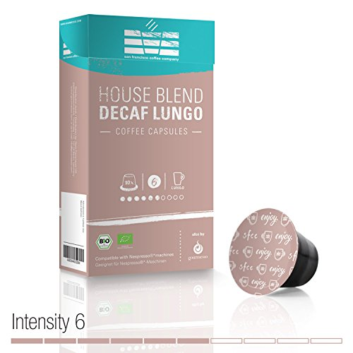Gourmesso SFCC House Blend Lungo Decaf - 10 Coffee Capsules for Nespresso Machines - Organic