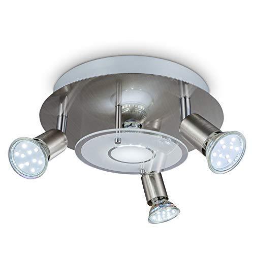 B.K.Licht I Plafondspots I met 4 lichts I GU10 fitting I draaibare spots I opbouwspots I incl. 4x GU10 I 3.000K I 250Lm…