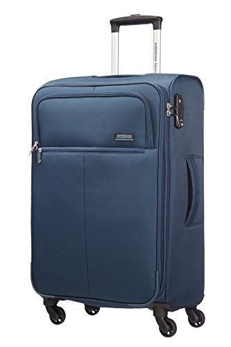 American Tourister Atlanta Heights Spinner 68/25 Valigia, 68 litri, Navy Blu