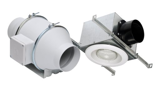 Lighted Bathroom Fan (Soler & Palau KIT-TD100XL In-line Exhaust Fan LED Lighted Kit)