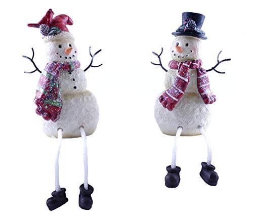 Gerson Winter Snowman Holiday Shelf Sitter Figurines - Set of 2