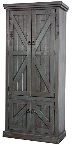 American Heartland #30791RDB Rustic Double Door Pantry, Rustic Dark Blue by American Heartland MFG. (Image #2)