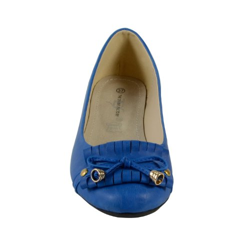 "Waooh - Mode - Ballerines ""The Divine Factory"" TDF671 - Bleu"