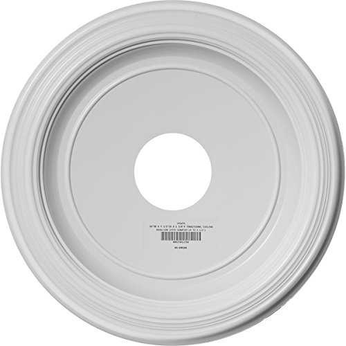 Ekena Millwork CMP16TR Traditional Thermoformed PVC Ceiling Medallion, 16''OD x 3 1/2''ID x 1 3/8''P (Fits Canopies up to 9 1/2''), White by Ekena Millwork (Image #3)