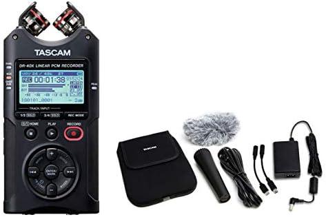 [해외]TASCAM 타스 캄-USB 오디오 인터페이스 기반 4 채널 리니어 PCM 레코더 DR-40X + 악세사리 패키지 AK-DR11G MKII 세트 / TASCAM Taskham - 4-Channel Linear PCM Recorder DR-40X + Accessory Package AK-DR11G MKII Set with USB Audio Interface