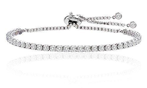 - Nina & Grace Adjustable Tennis Bracelet Made with Swarovski Elements by