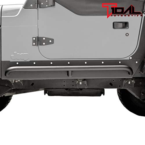 Tidal Armor Rock Slider with Tube Running Board Steel Fit for 97-06 Jeep Wrangler TJ