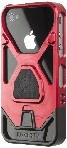 Rokbed Fuzion Plus iPhone 4/4s Aluminum Case with Magnetic Mount. Made in USA (Red)