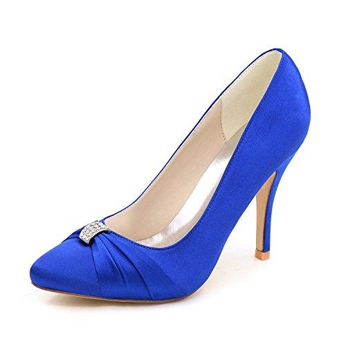 Frauen High Heels Frühling / Sommer / Herbst Hochzeit Schuhe / Runde 0255-18 Party abend Blue