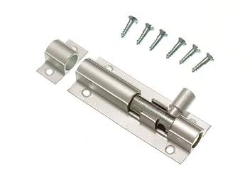 Puerta Tornillo barril Slide Lock 63mm 2 1/2 pulgadas de aluminio + tornillos (