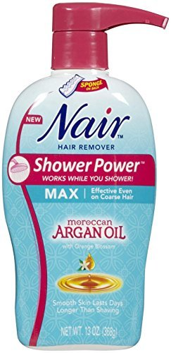 Nair Shower Power Nourish Moroccan Argan Oil & Orange Blossom Nair Hair Remover Unisex 13 oz (Pack of 5)