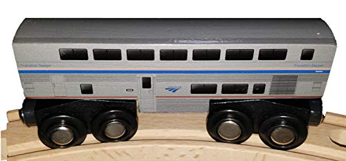 Amtrak Wooden Transitional Sleeper Train Superliner Sleeping Car 4.25 inch Compatible with Other Railroads