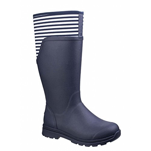 Mixed Stripe Table - Muck Boot Womens/Ladies Cambridge Rain Boots (9 US, Navy/White Stripes)