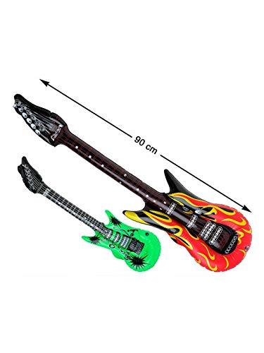 DISBACANAL Guitarra eléctrica Hinchable - Rojo: Amazon.es ...