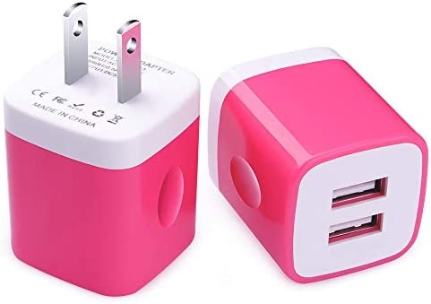 Amazon.com: Charger Box, FiveBox 2PC Dual Port 2.1A USB Wall ...