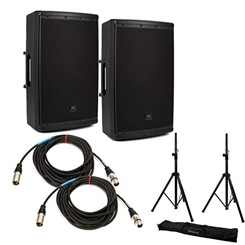 JBL EON612 Speaker Pair with Stands and Cables by Generic