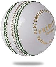 Cricnix Cricket Ball Premier White Leather (1-Pack/3-Pack/6-Pack) 156g for Seniors Match