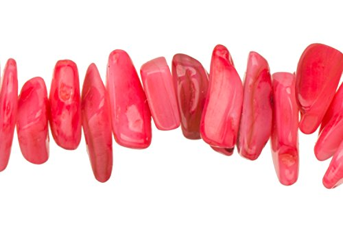 Red Mother-Of-Pearl Nacre Nuggets Shell Beads Size:10x8mm