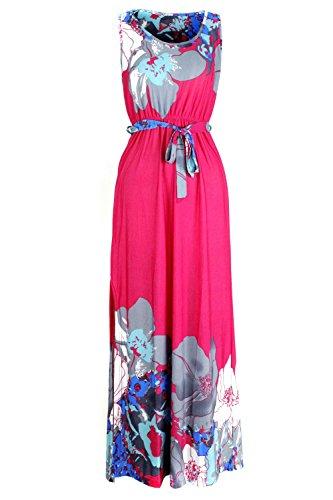 G2 Chic Women's Bohemian Summer Smocked Jersey Maxi Dress(DRS-MAX,DPKA3-M) (G2 Chic Maxi Dress)