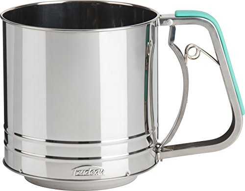 Trudeau 9913078 Flour Sifter Of Stainless Steel, Mint Green by Trudeau