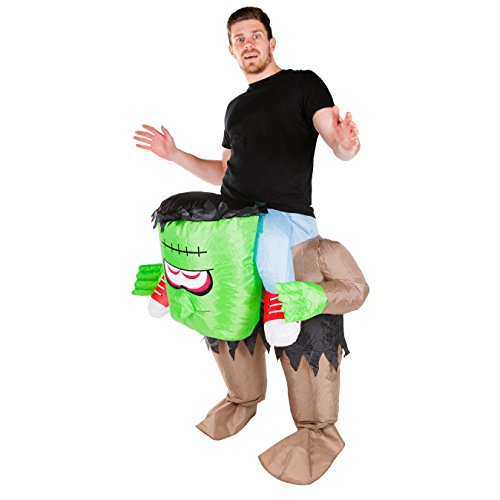 Bodysocks - Inflatable Frankenstein Scary Monster Piggyback Blow Up Adult Fancy Dress (Freaky Halloween Costumes For Men)
