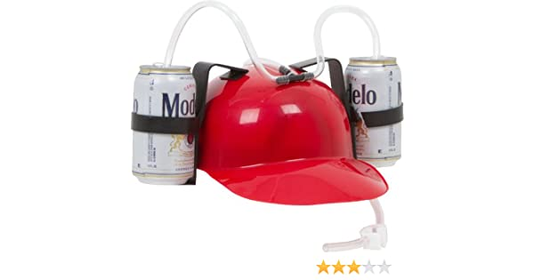 Drinker - Casco de cerveza y soda, Niños, EZ-HELMET-RED, rojo, talla única: Amazon.es: Deportes y aire libre