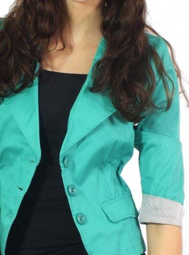 3 42 Manches nbsp;menthe Coton Young Blazer Fashion 4 Easy En xl TwzYU