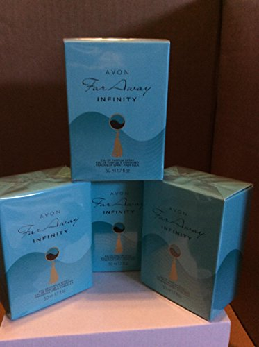 4 x AVON Far Away Infinity Eau de Parfum 50ml - 1.7fl.oz. SET ! (Far Away Perfume Set)