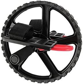 POWRX - Rueda Abdominal Ab Wheel para el potenciamento y la tonificación de los músculos abdominales - Agarre de goma antideslizante - Diámetro rueda: ...