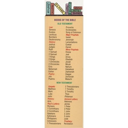 Bookmark Package - Books of the Bible Bookmarks (Package of 25)