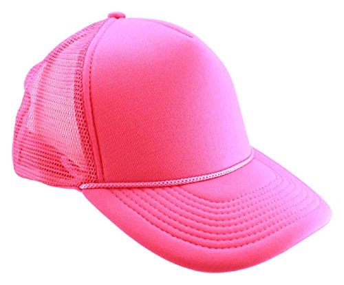 TDmall Trucker Hat Baseball Cap Foam Front Snapback Neon Colors Party Rave Club Style (Gangster Outfits For Men)