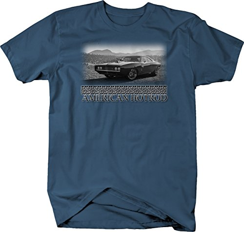 Bold Imprints Retro - American Hotrod Dodge Mopar Supercharged R/T Muscle Tshirt - Medium (Supercharged Rod Hot)