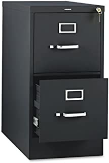 """product image for HON 310 Series Vertical Files w/Locks-2 Drawer File, Vertical, Letter, 15""""x26-1/2""""x29"""", Black"""